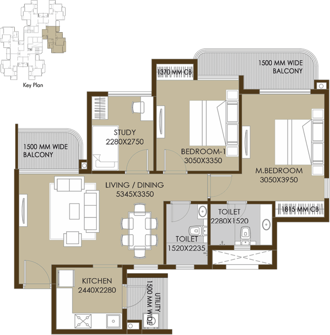 2bhk+study-floor-plan