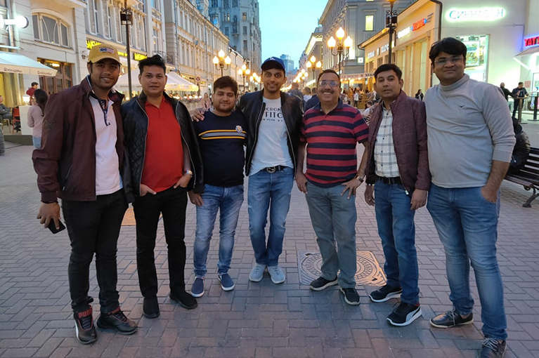 CRC Sales team enjoying trip to Russia in June 2019