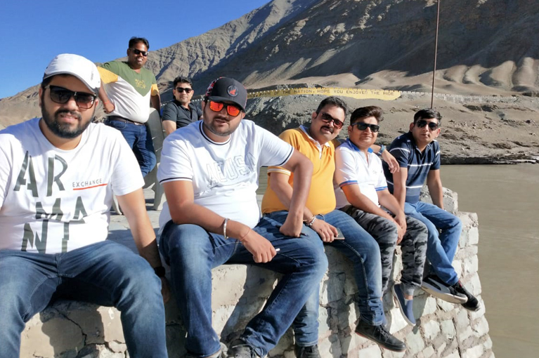 CRC Sales team enjoying trip to Lay Ladakh with Channel Partner in Sep. 2019