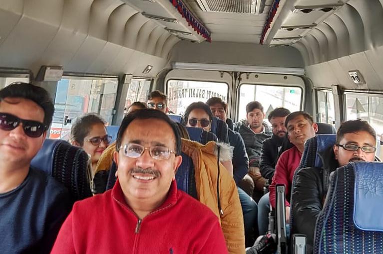 CRC Team enjoying trip to Vrindavan in Jan. 2020