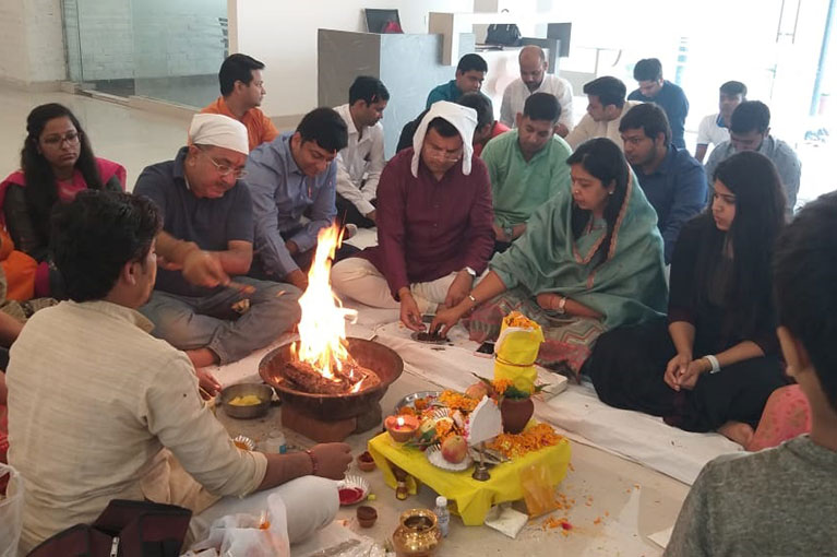 Havan & Team lunch on the occasion of Diwali at CRC Sublimis